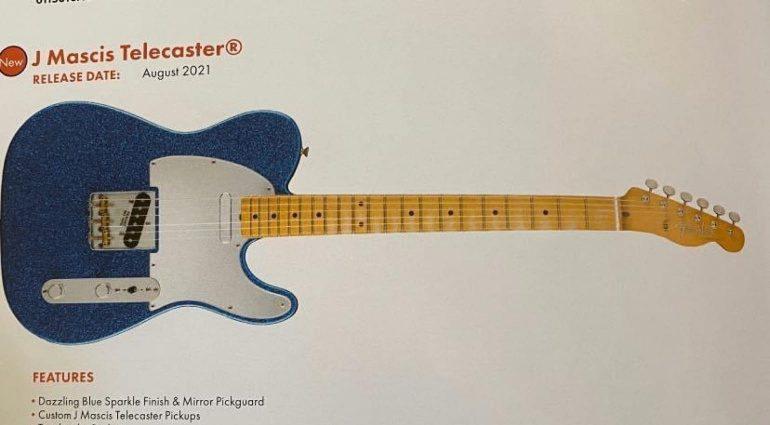 Fender J Mascis Telecaster Signature Blue Sparkle Gitarre