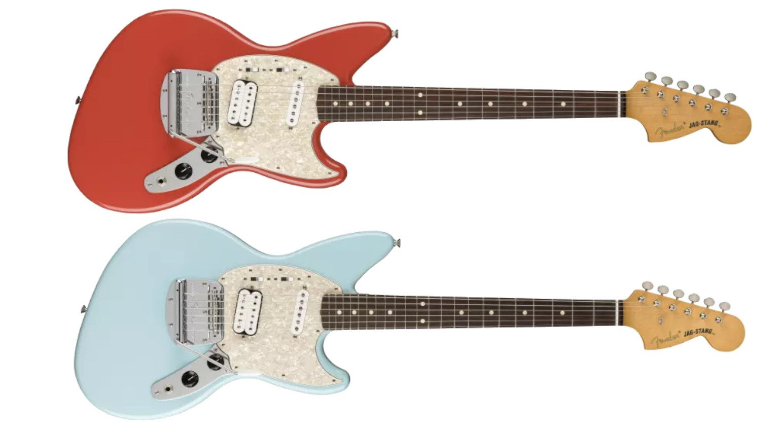 Fender Jag-Stang 2021 Mexiko Sonic Blue Fiesta Red Front