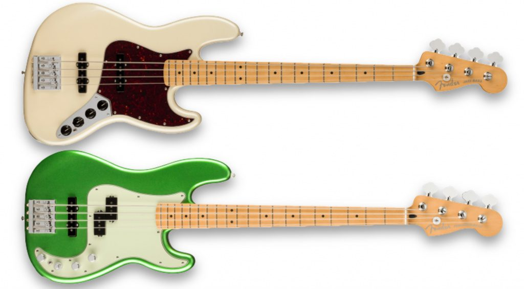 Jazz Bass & Precision Bass der Player Plus Series