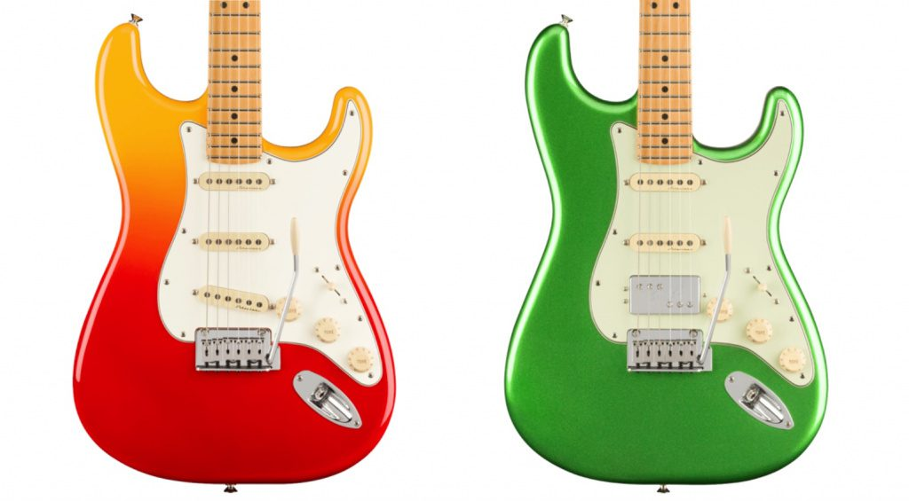 Player Plus Stratocaster in Tequila Sunrise und Cosmic Jade