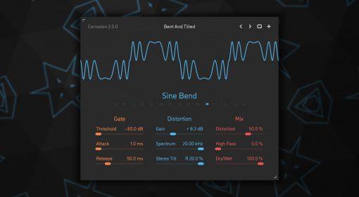 Sinevibes Corrosion v2: Mehr Distortion, VST3 und ein neues GUI
