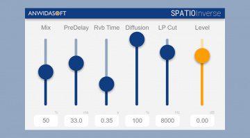 Anwida Soft Spatio Inverse erzeugt einen Rückwärts-Reverb-Effekt