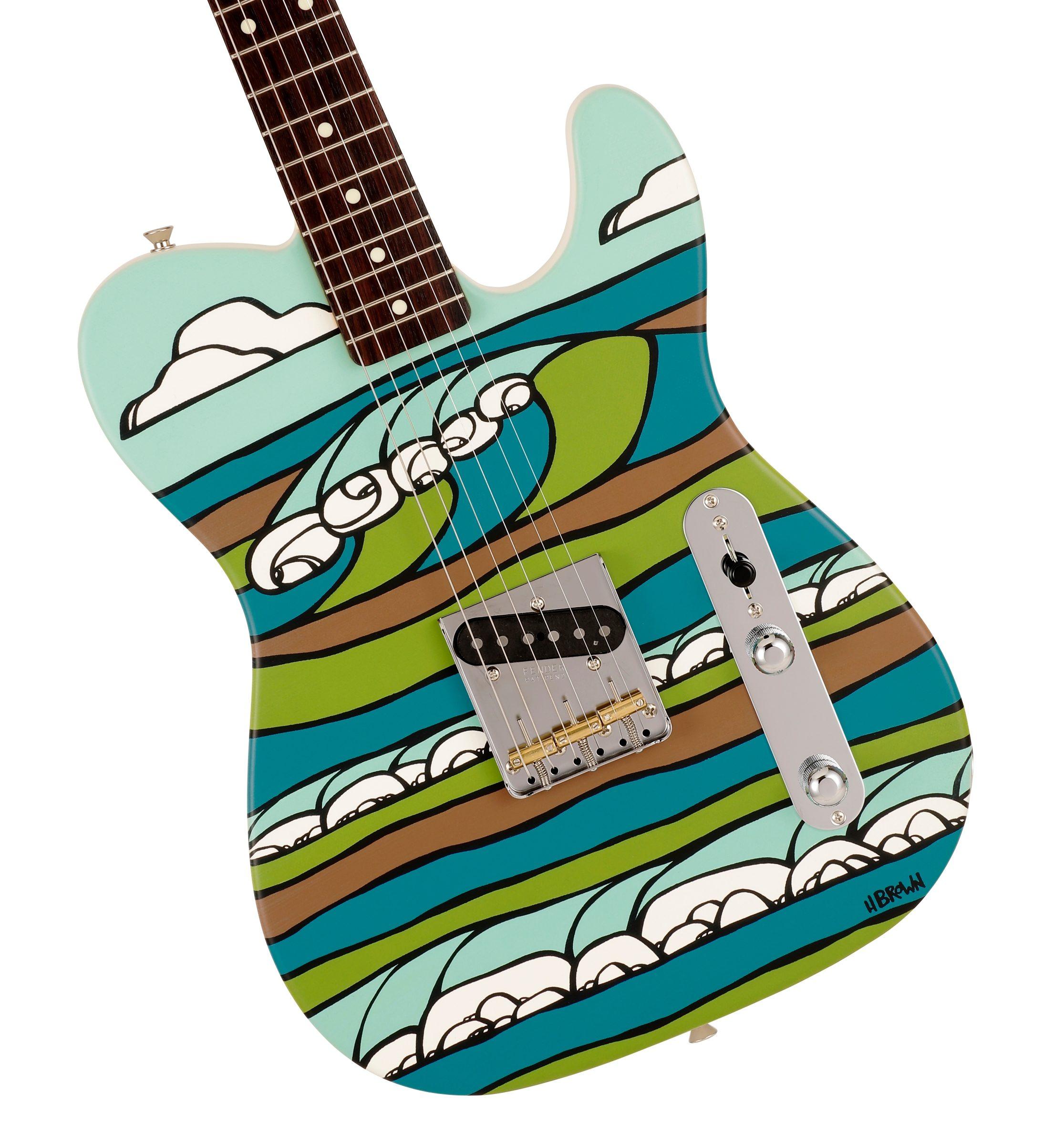 Fender Made in Japan Original Canvas Esquire Heather Brown Body