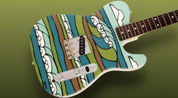 Fender Made in Japan Original Canvas Esquire Heather Brown Teaser