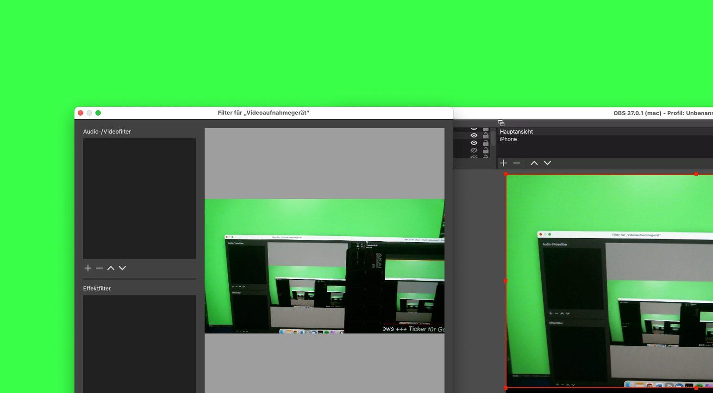 So geht Videostreaming: Greenscreen im Livestream einsetzen