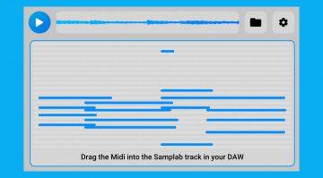 Kostenlos: Mit Samplab könnt ihr MIDI-Noten in Audiodaten verändern!