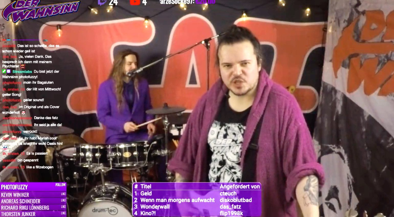 Videostreaming_Band_auf_Twitch