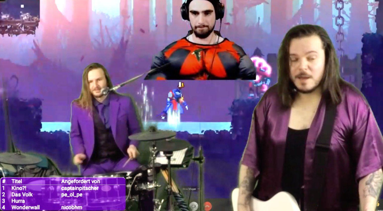 Videostreaming Band auf Twitch