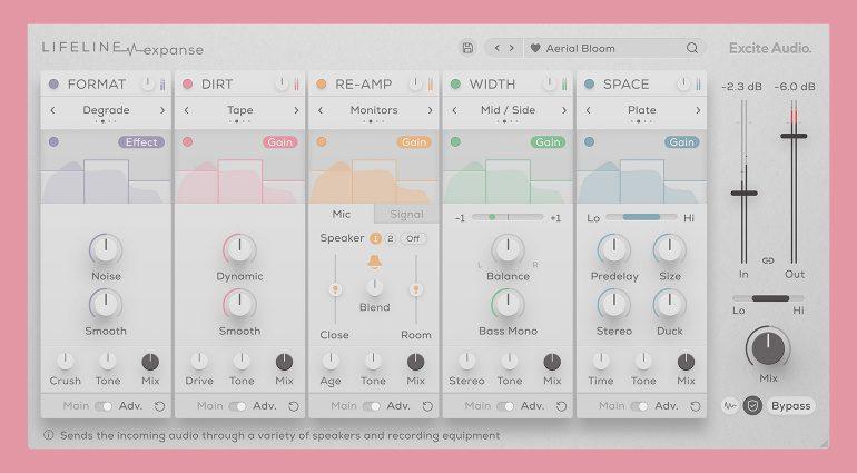 Excite Audio Lifeline Expanse: Multieffekt-Plug-in bringt mehr Leben in den Mix