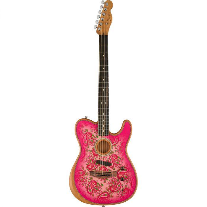 Fender Pink Paisley Acoustasonic Telecaster full