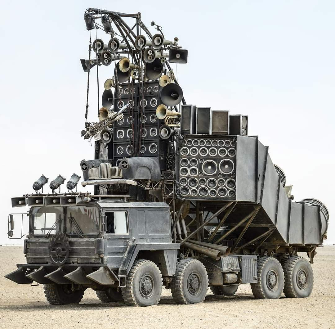 Mad Max Doof Wagon possibly the ultimate guitar rig