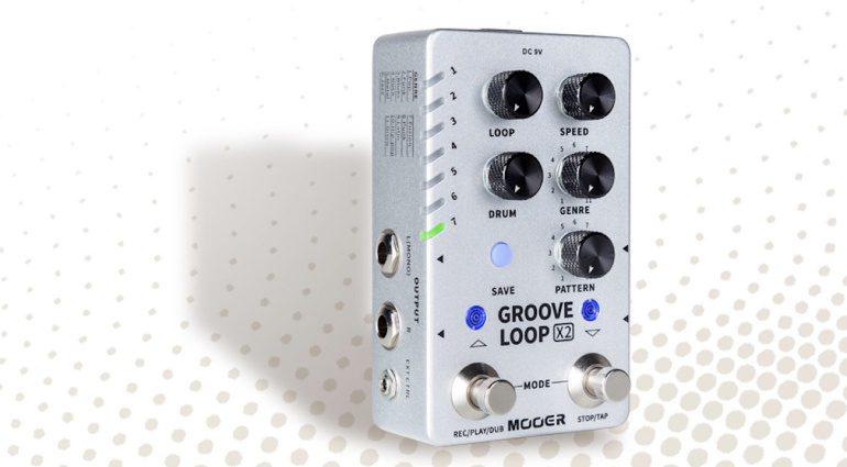 Mooer Groove Loop X2 Looper Drum Machine Stereo Effekt Pedal