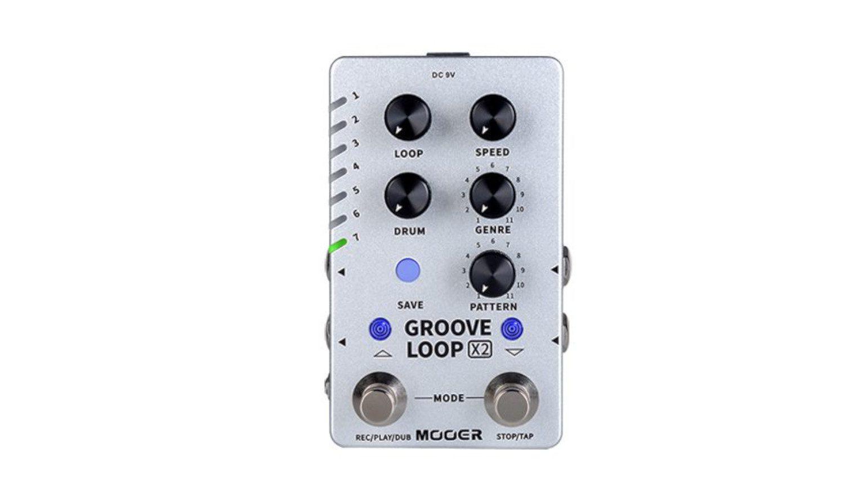 Mooer Groove Loop X2 Looper Drum Machine Stereo Effekt Pedal Front