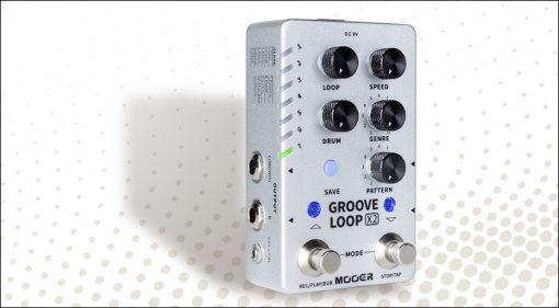 Mooer Groove Loop X2 Looper Drum Machine Stereo Effekt Pedal Teaser