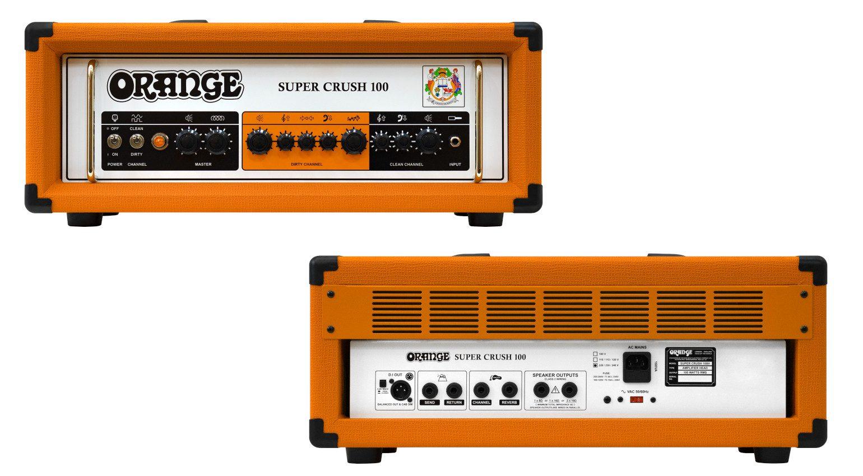 Orange Super Crush 100 Topteil Front Back
