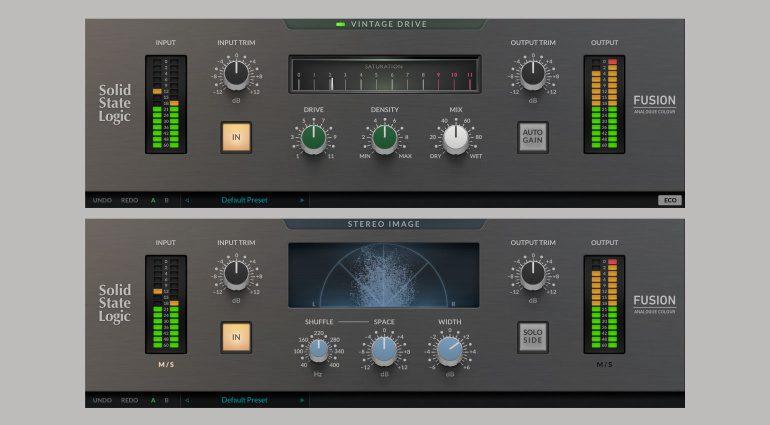 SSL Fusion Vintage Drive und SSL Fusion Stereo Image