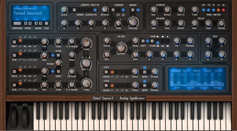 Tone2 Saurus 3: die analoge Synthesizer-Emulation bekommt ein großes Update