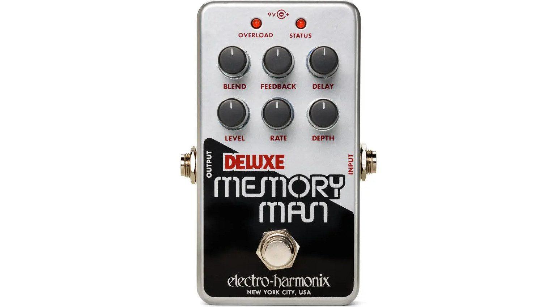 Electro Harmonix Nano Deluxe Memory Man Delay Chorus Effekt Pedal Front 1