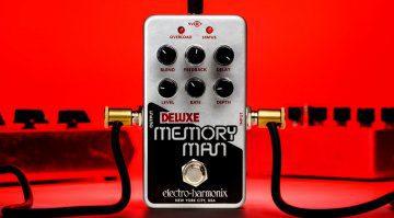 Electro Harmonix Nano Deluxe Memory Man Delay Chorus Effekt Pedal Front