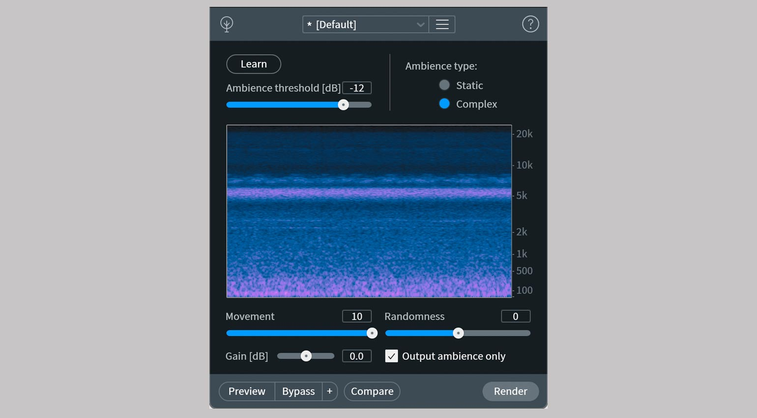iZotope RX 9 Ambience Match