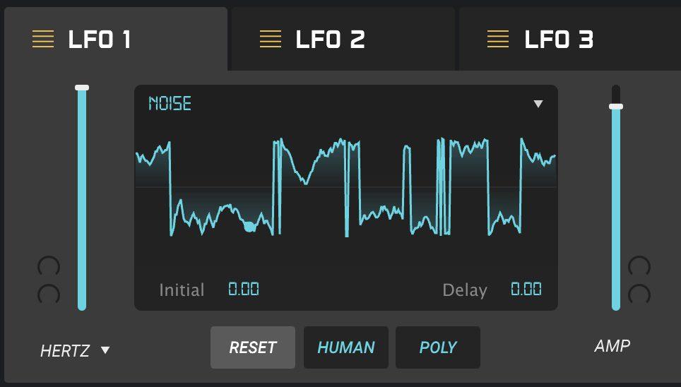 LFO mit Noise Waveform
